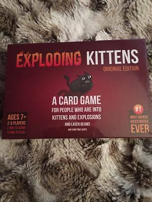 UK Exploding Kittens Card Game Original Edition Party Family Games Poker NEW