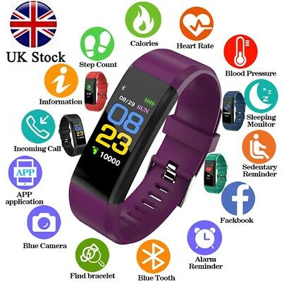 Fitness Smart Watch Activity Tracker WomenMen Kid Fitbit Android iOS Heart Rate.