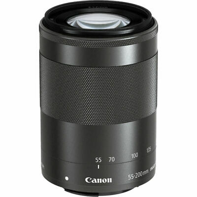 Nuovo Canon Ef-M 55-200Mm Is Stm Obiettivo Nero Black White Box