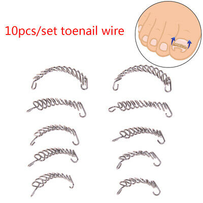 10pcs toenail correction tool ingrown wire fixer toe nail recover foot care *CH