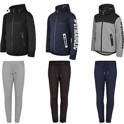 Kids Jacket or Trousers Ripple Panel Girls Boys Reverse Zip Joggers 3-14 Years