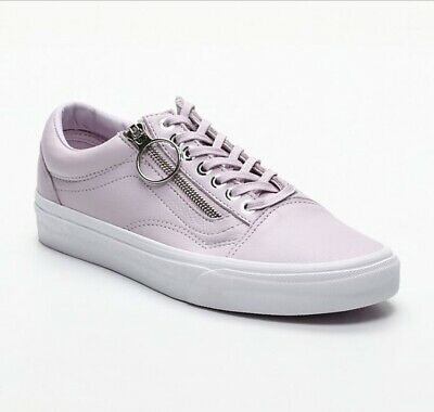 1af7e8f3fa Vans OLD SKOOL - ZIP SHOES - (Metal Hardware) Lavender Fog True White