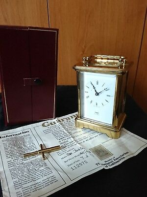 A Fine English Carriage clock, With Box