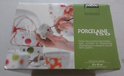 Pebeo Porcelaine 150 Boxed Kit Used For Porcelain And Earthenware Craft