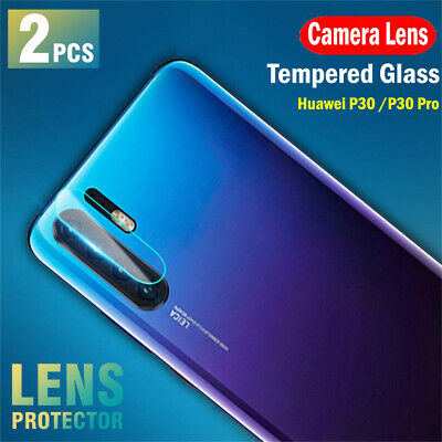 2X Huawei P30 P30 Pro Back Camera Lens Tempered Glass Screen Protector Guard