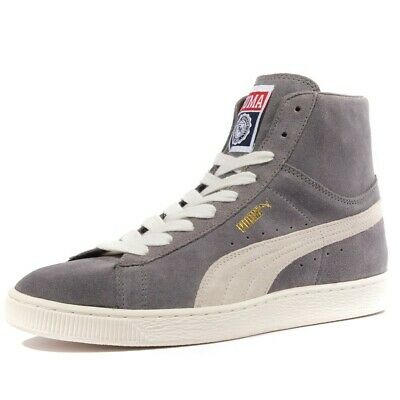 7e3cd838fa044 Suede Mid Classic Homme Chaussures Gris Puma Gris