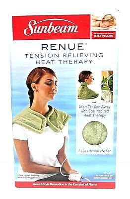 Sunbeam Renue Tension Relieving Heat Therapy Neck & Shoulder Wrap *NEW* in Box -