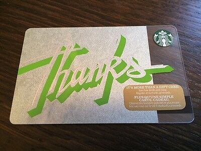 "Canada Series Starbucks ""THANKS 2016"" Gift Card - New No Value"