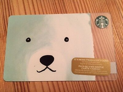 "Canada Series Starbucks ""POLAR BEAR 2016"" Gift Card - New No Value"