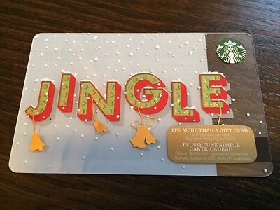 "Canada Series Starbucks ""JINGLE 2016"" Gift Card - New No Value"