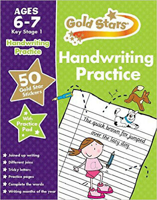 Gold Stars Handwriting Practice Ages 6-7 KS1, New, Parragon Book