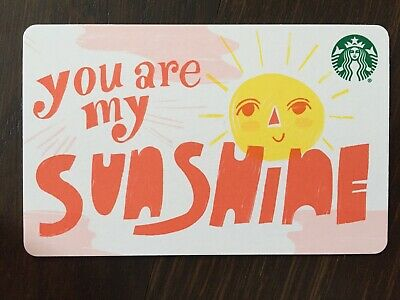"Canada Series Starbucks ""YOU ARE MY SUNSHINE 2019""  Recyc-New No Value - Eng/Fr"