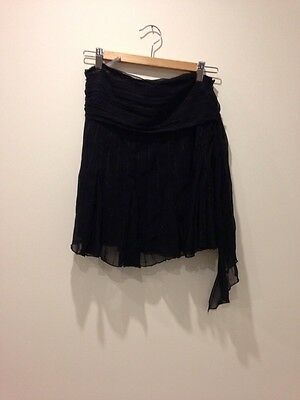 Oasis Black Skirt Short Sequinned Size 10 - <E3011