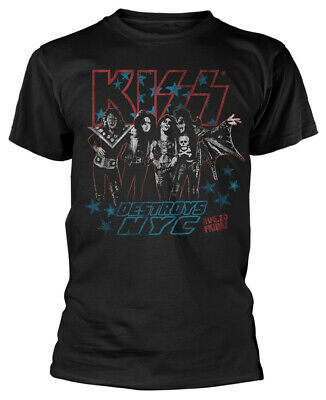 Kiss 'Destroys NYC' (Black) T-Shirt - NEW & OFFICIAL!