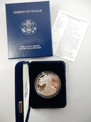 SKU #1057 2001-W 1 oz Proof Silver American Eagle w//Box /& COA