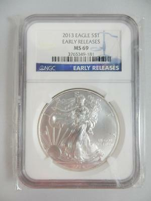2013 American Silver Eagle, NGC MS69, ASE S$1, EARLY RELEASE    #K31