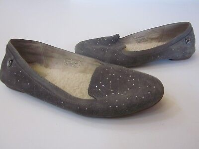 42fd7a52bb2 UGG BLACK BENTLIE Diamond Quilt Bling Ballet Flats Shoes, Us 6/ Eur ...