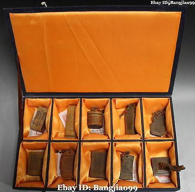 """13"""" Noble Chinese Natural Tianhuang Stone Ancient Seal Stamp Signet Box Set"""