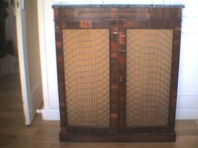 Victorian Small Rosewood Bookcase or Hall Cabinet