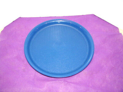 """TUPPERWARE Blue Round 8"""" SNACK & SALAD DISHES/LUNCH PLATE-EUC"""