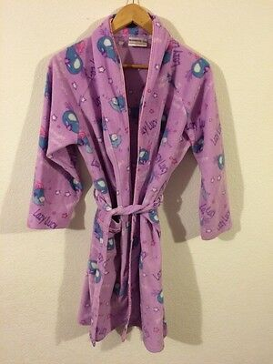 Rambokids Dressing Gown Robe Girls Age 7-10 Years Lilac Soft Fluffy <R4627