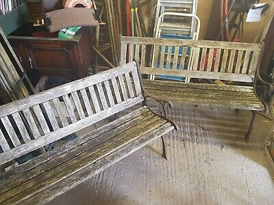 Pair Of Vintage Cast Iron Benches - Project - Garden Bench