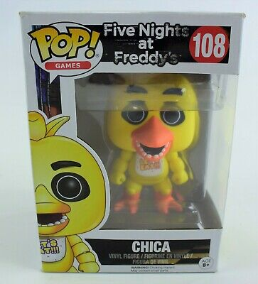 Funko Pop! Games Chica Five Nights At Freddy's 108 Vinyl Figure NEW