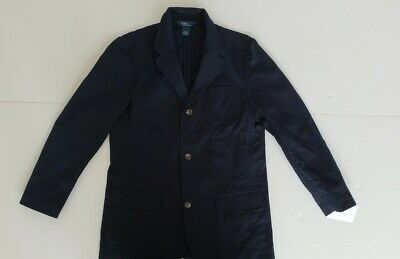 Nwt Ralph Lauren Polo Boys  Chino Jacket/ Navy Xl(18/20) #A