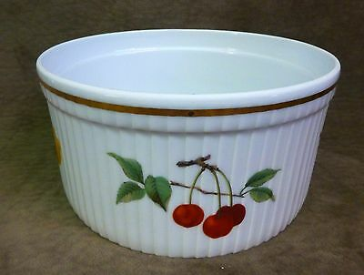 "Royal Worcester Evesham Gold 7 1/2"" Souffle Dish - Oven To Table Ware"
