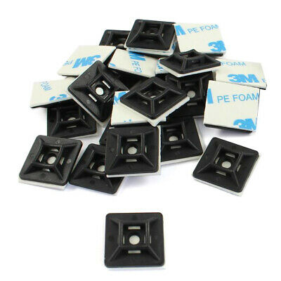 Self Adhesive or Screw Cable Tie (3.6mm) Mounts Clips for Cable, Wire *Pack 50*