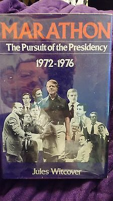 Marathon The Pursuit of the Presidency by Jules Witcover 1977 HCDJ 1st Ed SIGNED