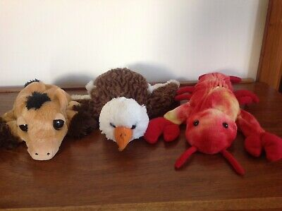 Caltoy/Dream Hand Puppet Bundle X 3 Golden Eagle, Pony and Lobster VGC