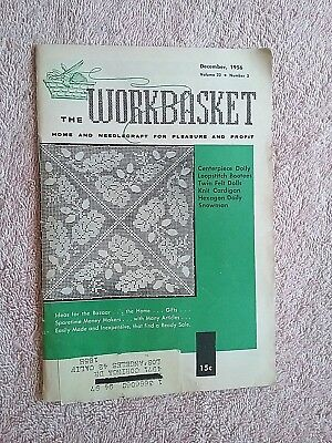 Vintage Workbasket Magazine Dec. 1956 Needlecraft Knit Crochet