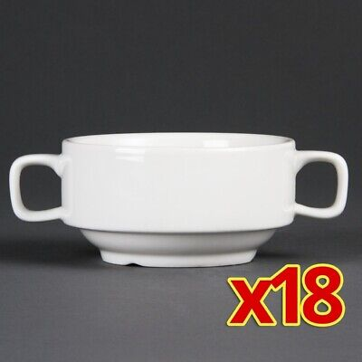 Bulk Buy Pack of 18 Olympia Handled Soup Bowls 400ml (Pack of 18)
