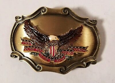 Vintage 1978 The Right To Keep And Bear Arms Second Amendment Belt Buckle