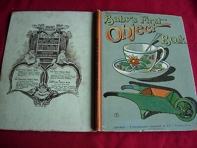 EXTREMELY RARE EARLY 1900's BOARD BOOK - AUNT LOUISA'S SIMPLE OBJECT SERIES