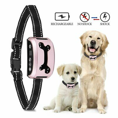Anti Barking No Bark Collar Rechargeable Waterproof Humane Training 5-160 lbs