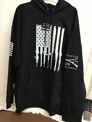 89c8d3ca GRUNT STYLE RIFLE Flag 2.0 Pullover Hoodie - Black - $38.66   PicClick