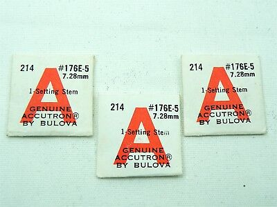 NOS Bulova ACCUTRON Parts for Model 214 SETTING STEM #176B Lot of 3 Sealed!