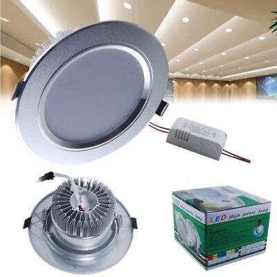 4/8/12X LED Recessed Ceiling Downlight 3W 5W 7W 9W Light Lamp Warm White +Driver