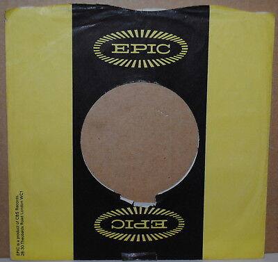 EPIC RECORDS VINTAGE 7 Inch 45 Rpm Company Sleeve Only No