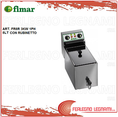 Deep Fryer Electric 8lt 3kw 1ph with Tap Fimar Fr8r