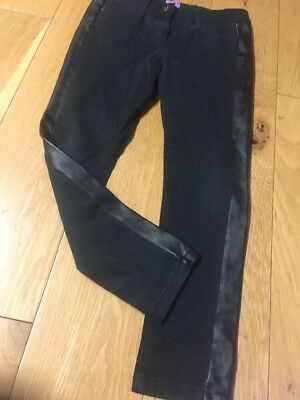 Girls F&f Black Jean Style. Skinny thick  Trousers Age 7-8 Trs