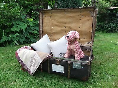 Vintage Luggage Travel Trunk Chest Retro Coffee Table Toy Storage box - TAWNEY