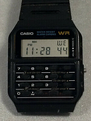 Casio 3208 Black Ca 53w Data Bank Calculator Stop Watch Day And Date