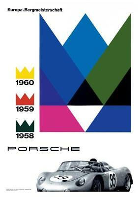 Porsche *POSTER* RS Spyder 550 Race Car 58' 59' 60' GERMANY - BEAUTIFUL PRINT