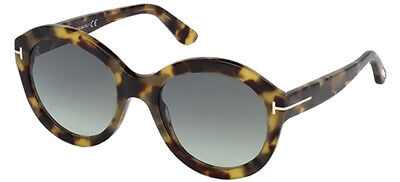 4716f32eb8 Tom Ford KELLY-02 FT 0611 BLONDE HAVANA GREEN SHADED women AUTHENTIC  Sunglasses