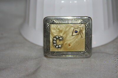 """Vintage Tandy Silver and Gold """"New Hope"""" Belt Buckle 3pc  Set 3/4"""""""