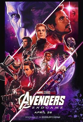 "Avengers Endgame Poster 48x32"" 40x27"" Movie 2019 MCU End Game Dolby Print Silk"