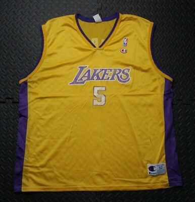 1415ad99a9b Men's Los Angeles Lakers Basketball Jersey Robert Horry NBA Champion Shirt  2XL